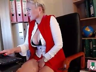 Polish Step Mother Entertains Son On Cam