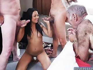 Gorgeous Nikki Kay Hot Orgy With Old Rich Men