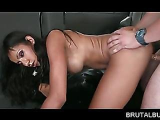 Dick Humping Brunette Takes Messy Facial