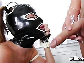 Kinky Lesbos Fill Up Their Massive Arses With Milk And Squirt It Out