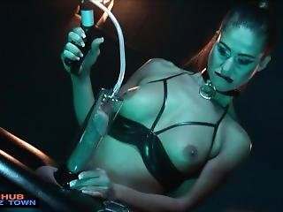 Dominatrix Tortures Then Gets Assfucked By Slave