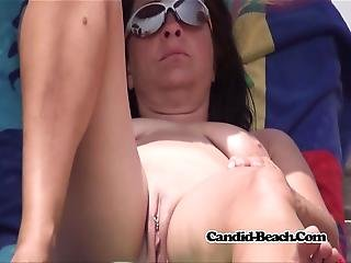 Pierced Clit Fat Pussy Nudist Hot Milf Voyeur Beach Spy