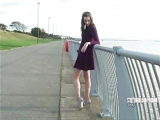 Leggy Brunette Keri Teases Her Long Legs Silver High Heels In Shoe Fetish