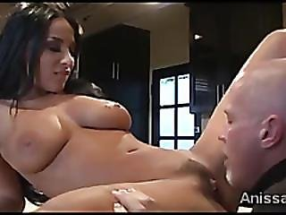 Gorgeous Anissa Kate Surprised By Sperkyed Tongue And Dick