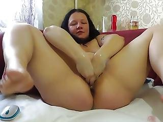 Amateur Bbw Big Bottle Fisting Dildo Xmas Show