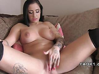 Incredible Busty Brit Gets Anal In Casting
