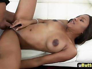 Flawless Petite Ebony Teen Sexy Intense Lap Sex On Big Cock