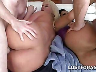 Big Ass Hoes Drilled From Behind In 4some