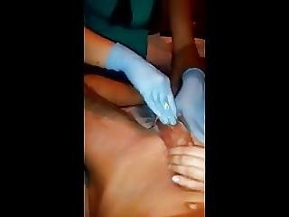 Man Waxed By 2 Women