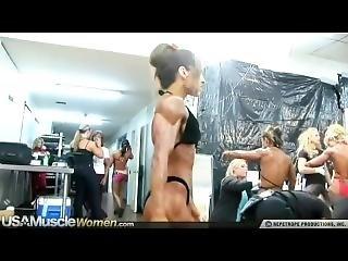 Incredible Muscular Older Woman Posing In Bikini 2