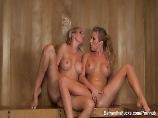 Samantha And Brett Get It On In The Sauna