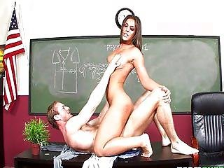 Mischa Brooks fucks and sucks teachers testicles