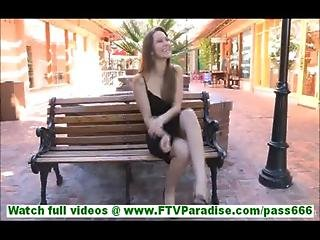Riley Incredibly Sexy Brunette Flashing Panties And Flashing Pussy And Taking Clothes Off In Public
