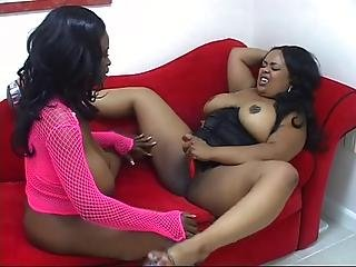 2 Busty Busty Ebony Women Play With Each Other