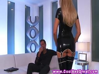Jessica Drake Latex Fun With Her Horny Stud For Oral