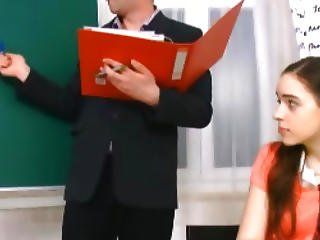 The Feeling Of Barely Legal Pussy Is Just Too Good For This Mature Teacher To Pass Up.
