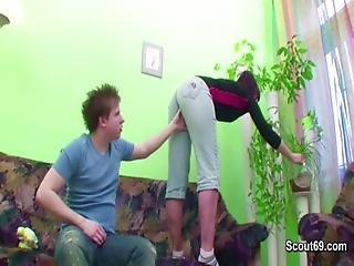 German 43yr Milf Seduce To Fuck By Her 18yr Old Step-son
