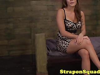 Femdom Dominas Strapon Fuck Tied Up Asian Sub