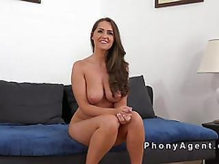 Amateur With Amazing Tits Gets Anal