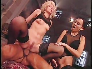 Sexy Bitch Fucking Studs In Gangbang