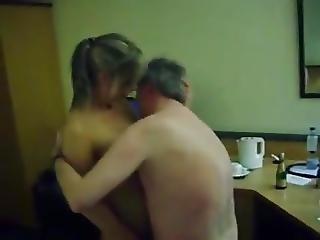 Cuckold Old Man Fucks Blonde In Hotel