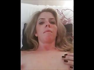 Horny Blonde Milf Fucking Herself