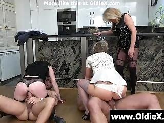 3 Grannies 2 Young Cocks