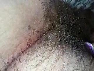 Close Up Of Margaret's Hairy Pussy