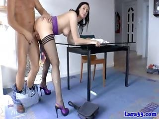 Anal, Blowjob, British, Butt, Buttfuck, Cumshot, Dick, Fucking, Heels, Mature, Penetration, Stocking, Sucking, Threesome
