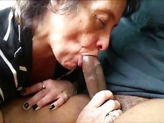 Amateur Granny Interracial Cocksuck