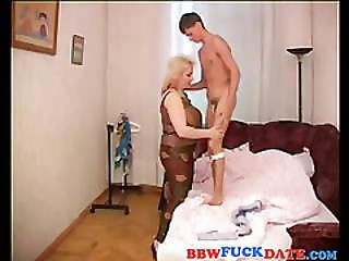 Mature Russian Bbw Seduce Teen Boy