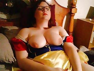 Playing In My Snow White Costume