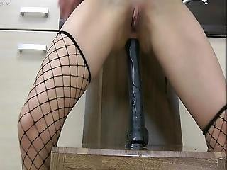 Very Long Dildo Inside Ass