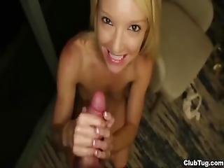 Super Hot Blonde Pov Handjob