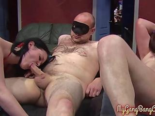 Two Middle-aged Sluts In A Hot Orgy