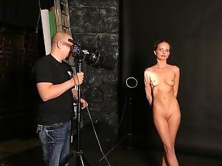 backstage, model, naakt