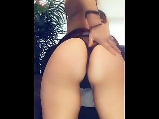 Snapchat Striptease Ass Shaking Schoolgirl With Glasses Thong Huge Tits
