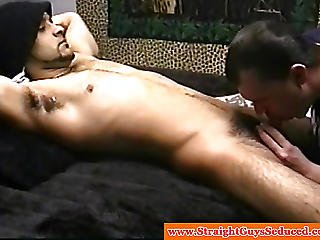 Seduced Teen Dude Lays Back For Head
