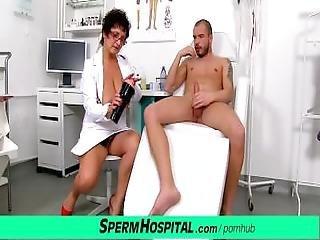 Big Natural Boobs Milf Doctor Greta Sexy Uniform And Wank Job