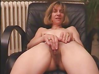 blonde, française, poilue, masturbation, mature
