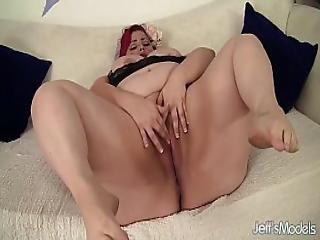 Bbw, παχουλή, Chunky, χοντρή, καύλα, αυνανισμός, Plumper, κοκκινομάλλα