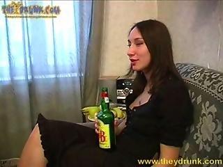 Drunk russian girl Inga
