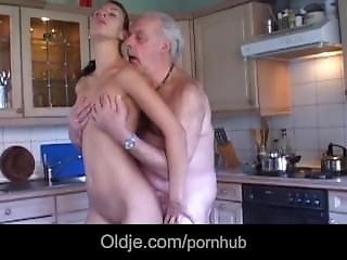 Brunette, Fucking, Grandpa, Lick, Teen, Young