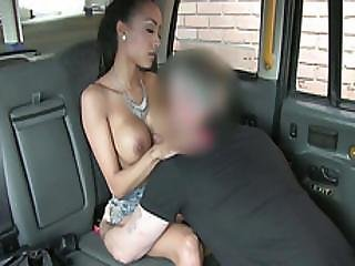 Hot Busty Black Woman Gets Fucked In A Public Cab