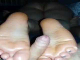 Footjob From Nice Ass Wife