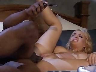 Filthy Hot Babe Gets Her Pink Snatch Hit By A Massive Black Boner