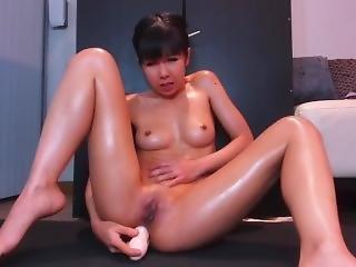 Lsg In Double Headed Dildo Oiled Fuck Prolapse