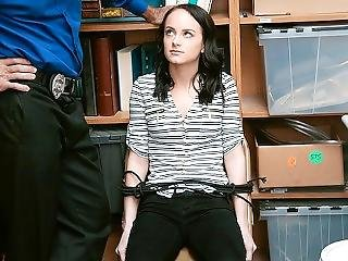 Shoplyfter - Small Teen Tied Up And Exposed For Stealing
