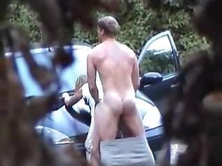 amatør, bil, par, kneppe, offentlig, rå, sex