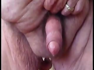 Grandpa Massaging His Prostate And Dripping Grandpa Cum